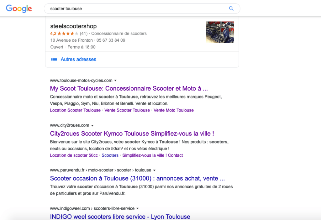 SEO premiers résultats sur les pages de recherche